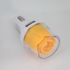New car charger rose design dual USB ports car charger for mobile phone