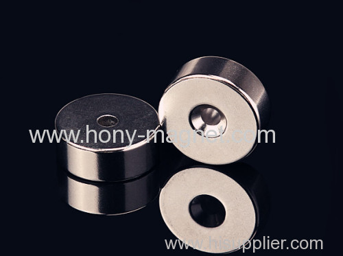 Custom strong sintered ndfeb ring magnets n35