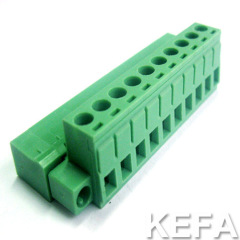 pluggable terminal block with flange PANEL MOUNT KF2EDGKM