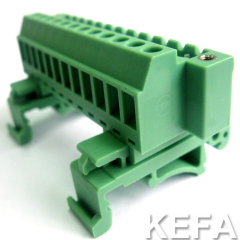 pluggable terminal block with DIN Rail KF2EDG-UVKM