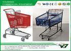 Durable Plastic 180liters Supermarket shopping cart trolley with 4 wheels