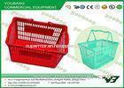 Durable Recycle Plastic Supermarket Shopping Basket Virgin HDPP Handle Basket