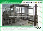 Double side Supermarket Display Shelving / Wooden Slatwall Shelf With Front Plate