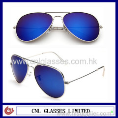 Mirrored lens avaitor sunglasses UV400 and CE standard sunglasses