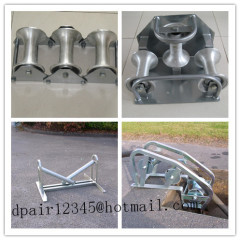 Straight line bridge roller Cable guides Cable rollers