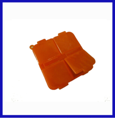 yellow color Manual type 4 section Plastic Pill box