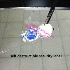 cheap price professional maker adhesive type and ultra destructible adhesive label