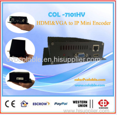 H.264 HDMI and VGA in RTMP HTTP IPTV encoder