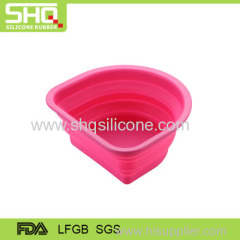 Non-stick silicone vegetable basin