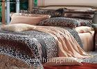 Leopard Printed Sateen Bedding Sets , Quilt Cover Sets Queen Size