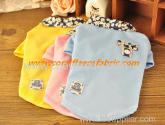 2015 new style blue cute pet clothes for dog with printing collar