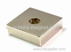 N48 neodymium block magnet with hole