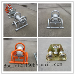 Cable roller galvanized Cable roller with ground plate