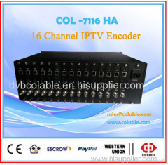 16 channel HDMI & AV H.264 IPTV encoder