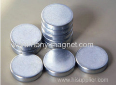 Small Disc Neodymium magnet button for clothes