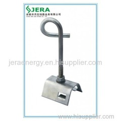 Bracket supporting clamps for FOC Steel Insulated Wires.