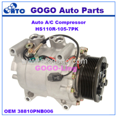 GOGO HS110R Auto A/C Compressor for Honda CR-V 2.4L 2002-2006