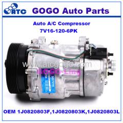 7V16 Auto A/C Compressor for Volkswagen Beetle Golf Jetta OEM 1J0820803F 1J0820803K 1J0820803L