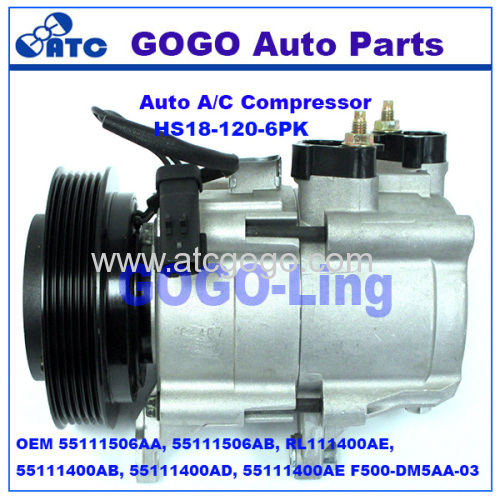 HS18 Air Conditioning Compressor for Liberty OEM 55111506AA 55111506AB RL111400AE