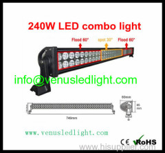 42inch 240W Curved 4WD Truck SUV AWD 4x4 off-road Beam LED Work light High