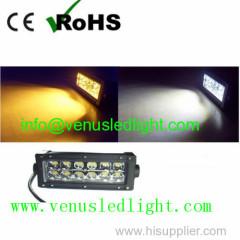 Amber/White 72W 13.5inch LED Combo Light Bar Motor Fog Driving 4WD SUV Car