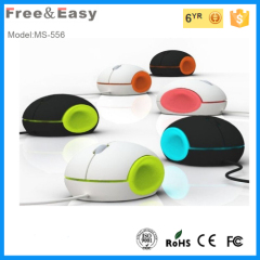 Colorful zore defective optical round 3 button mouse