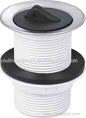 Basin Waste unslotted Plastic plug for bathroom fittings