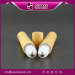 bamboo cosmetic packaging 15ml plastic roller bottle bamboo container 1/2oz bamboo bottle