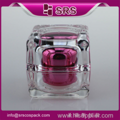 Hot Sale Cosmetic Packaging Used Face Cream Square 10ml 15ml 30ml 50ml Plastic Cosmetic Packaging