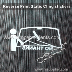Clear stactic cling car window stickers