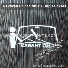 Custom Window Glass Static Cling Vinyl Stickers Transparent Window - Custom vinyl stickers transparent