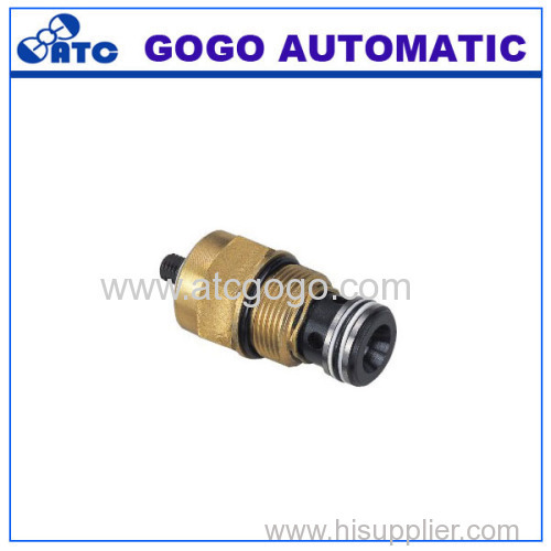 adjustable threaded cartridge throttle check valve