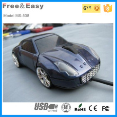 Novelty car shape wired mouse pc