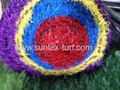 Green red blue Plastic Artificial Grass Mats
