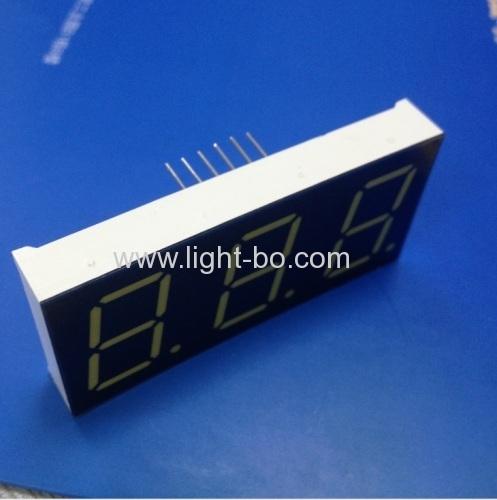 Ultra white 0.8 3 digit 7 segment led dsplay common anode for instrument panel