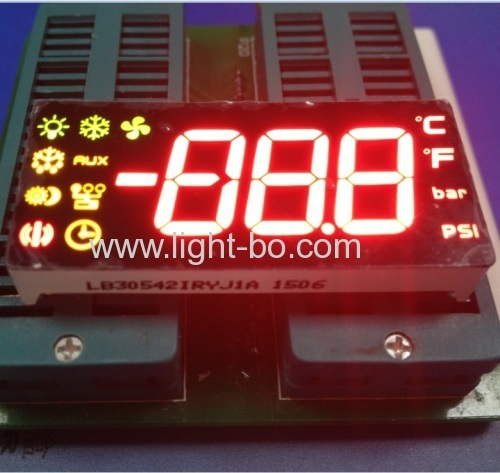 Custom 3-digit 7 segment LED Display for Refrigerator Control