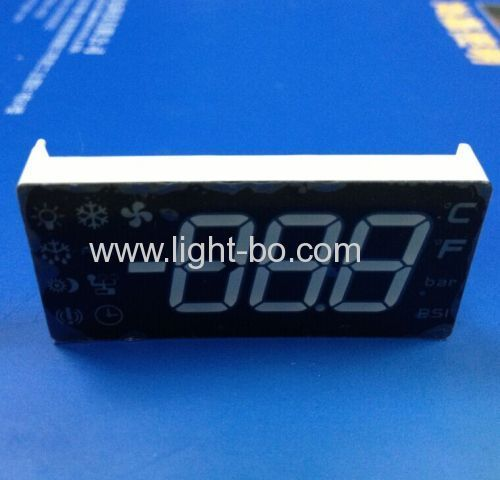 Custom Red/Green/Yellow 0.54  Triple Digit 7-Segment LED Display for Cooling