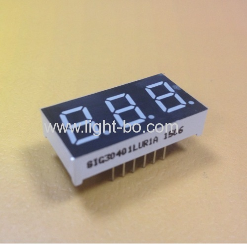 Ultra Red 0.4  3 digit segment led display common cathode for Instrument Panel