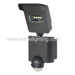 LED outdoor wall light IP54 10W 720lm aluminium body with sensor 100-240V GS