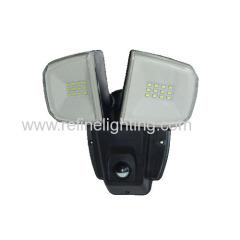 Unique design Plastic body 12W wall light with PIR sensor