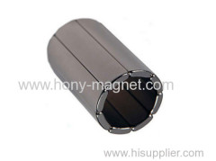 Arc shape permanent magnet generator parts