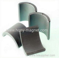 arc shape strong magnets for motor car