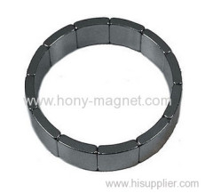 permanent arc segment magnet materials for winding of motors