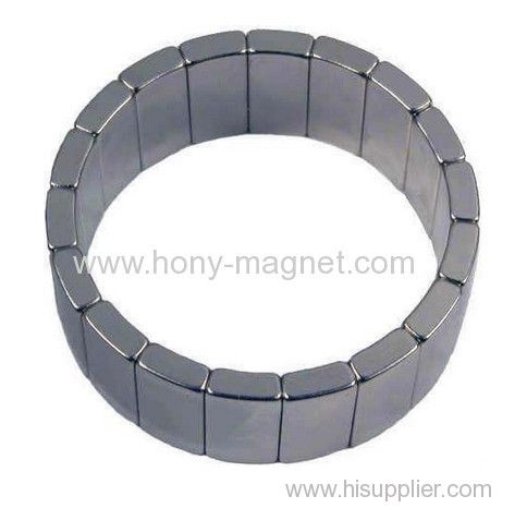 super strong arc segment ndfeb magnet circle a hole