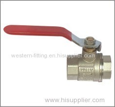 Brass Ball Valve CW614 Material Nickel Plated