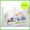 Non woven Slippers Storage Case with PVC cover 12 compartments