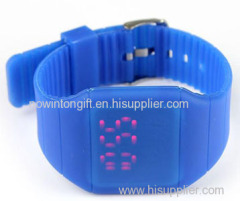 silicone led touch watch