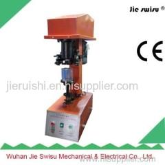 Vertical electric pop-top can sealing machine
