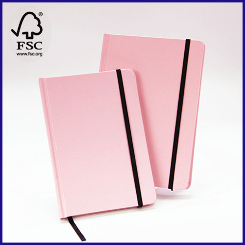 college ruled hardcover notebook with elastic bands