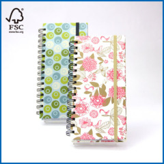 Hardcover Spiral Journal Notebook with Elastic Closures